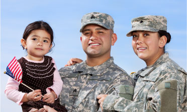 Military Mom, Dad and kid