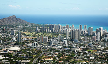 Overhead photo of Waikiki